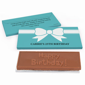 Deluxe Personalized Birthday Bow Chocolate Bar in Gift Box