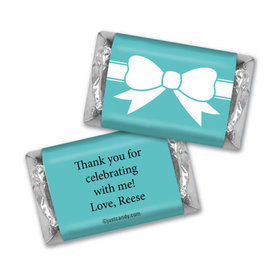 Birthday Personalized Hershey's Miniatures Wrappers Tiffany Style Bow