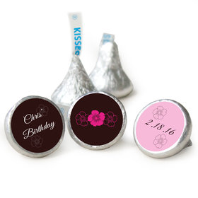 Birthday Personalized Hershey's Kisses Flower Trio Assembled Kisses (50 Pack)
