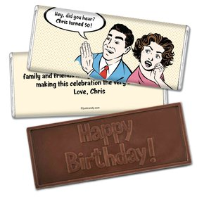 Birthday Personalized Embossed Chocolate Bar Comic Strip