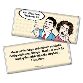 Birthday Personalized Chocolate Bar Comic Strip