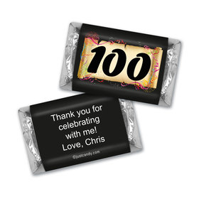 100th Birthday Personalized Hershey's Miniatures Confetti Age