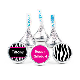 "Birthday 3/4"" Sticker Zebra Then & Now (108 Stickers)"