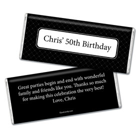 Birthday Personalized Chocolate Bar Dotted Criss Cross