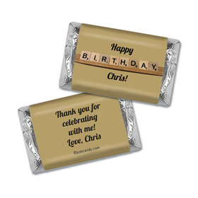 Birthday Personalized Hershey's Miniatures Wrappers Scrabble Board Game