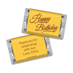 Birthday Personalized Hershey's Miniatures Timeless Age Circle