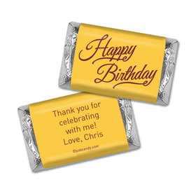 Birthday Personalized Hershey's Miniatures Wrappers Timeless Age Circle
