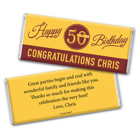 Birthday Personalized Chocolate Bar Timeless Age Circle