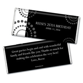 Birthday Personalized Chocolate Bar Dotted Whirls