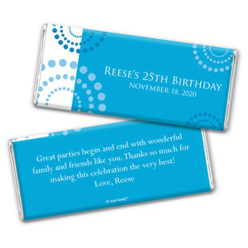 Birthday Personalized Chocolate Bar Wrappers Dotted Whirls