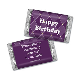 Birthday Personalized Hershey's Miniatures Wrappers Argyle