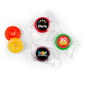 Birthday Stickers Surprise Personalized LifeSavers 5 Flavor Hard Candy