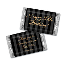Milestones Personalized Hershey's Miniatures Wrappers 30th Birthday Favors