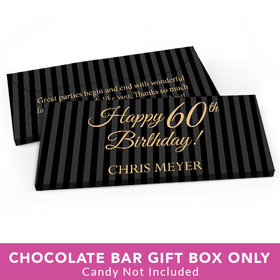 Deluxe Personalized Birthday 60th Candy Bar Favor Box