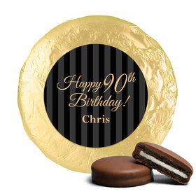 Personalized 90th Birthday Belgian Chocolate Covered Oreo Cookies (24 Pack)