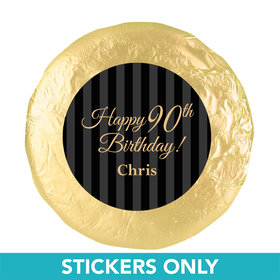 """Personalized 90th Birthday 1.25"""" Stickers (48 Stickers)"""