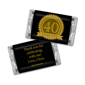 Milestones Personalized Hershey's Miniatures Wrappers 40th Birthday Favors