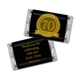 Milestones Personalized Hershey's Miniatures Wrappers 70th Birthday Favors
