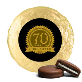 Personalized 70th Birthday Milk Chocolate Covered Oreo Cookies (24 Pack)