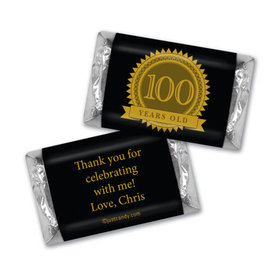Milestones Personalized Hershey's Miniatures Wrappers 100th Birthday Favors