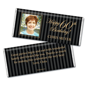 Milestones Personalized Chocolate Bar 60th Birthday