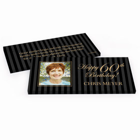Deluxe Personalized Birthday Photo 60th Hershey's Chocolate Bar in Gift Box