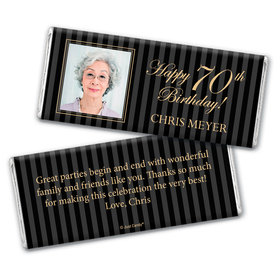 Milestones Personalized Chocolate Bar 70th Birthday Wrappers