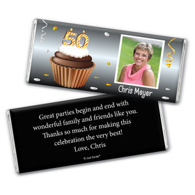 Personalized Milestones 50th Birthday Chocolate Bar & Wrapper
