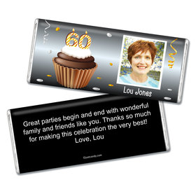 Personalized 60th Birthday Milestones Chocolate Bar & Wrapper