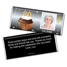 Personalized 80th Birthday Milestones Chocolate Bar & Wrapper 80th Birthday