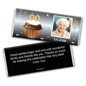 Personalized 90th Birthday Milestones Hershey's Chocolate Bar Wrappers Only