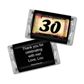 Milestones Personalized Hershey's Miniatures Wrappers 30th Birthday Chocolates Commemorate