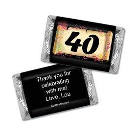 Milestones Personalized Hershey's Miniatures Wrappers 40th Birthday Chocolates Commemorate