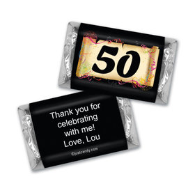 Milestones Personalized Hershey's Miniatures Wrappers 50th Birthday Chocolates Commemorate
