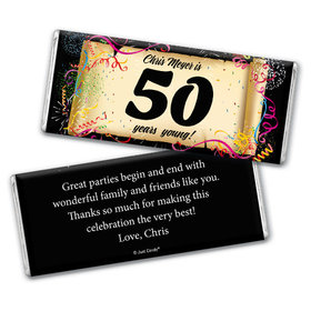 Milestones Personalized Chocolate Bar 50th Birthday Chocolates Commemorate
