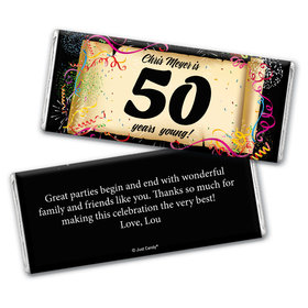 Milestones Personalized Chocolate Bar 50th Birthday Wrappers Commemorate