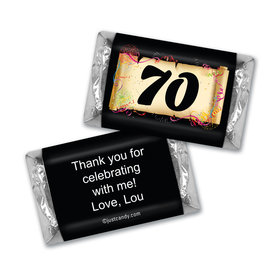 Milestones Personalized Hershey's Miniatures 70th Birthday Chocolates Commemorate