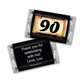 90th Personalized Adult Birthday Mini Wrappers