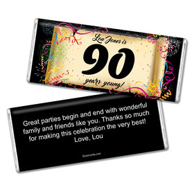 Milestones Personalized Chocolate Bar 90th Birthday Wrappers How Many?