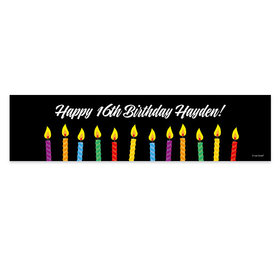 Personalized Birthday Candles Banner