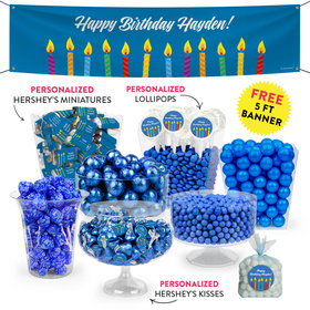 Personalized Birthday Candles Deluxe Candy Buffet