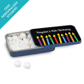 Birthday Personalized Mint Tin Lit Candles (12 Pack)