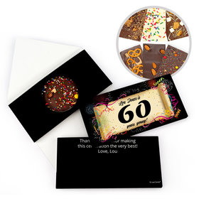 Personalized Milestone Birthday 60th Scroll Gourmet Infused Belgian Chocolate Bars (3.5oz)