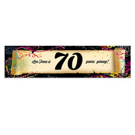 Personalized Birthday Confetti 70th 5 Ft. Banner
