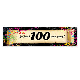 Personalized Birthday Confetti 100th 5 Ft. Banner