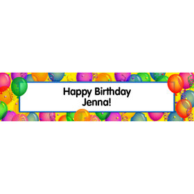 Personalized Balloon Bash 5 Ft. Banner