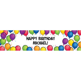 Personalized Bright Birthday Glitz 5 Ft. Banner