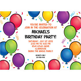 Birthday Glitz Personalized Invitation