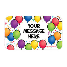Birthday Glitz Personalized Rectangular Stickers (18 Stickers)