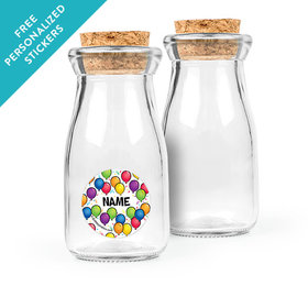 Birthday Glitz Personalized Glass Bottle with Cork (24 pack)
